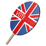 Isolated voting paddle. With a flag of United Kingdom,  illustration Stock Images