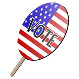 Isolated voting paddle. With a flag of United States,  illustration Royalty Free Stock Images