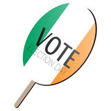 Isolated voting paddle. With a flag of Ireland, vector illustration Stock Images