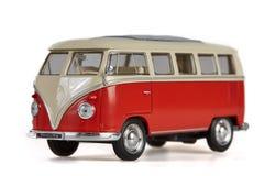 Isolated vw bus van on white background Royalty Free Stock Image
