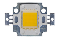 Isolated 10W HIGH POWER LED Royalty Free Stock Photos