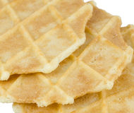 Isolated waffle biscuit Royalty Free Stock Photos