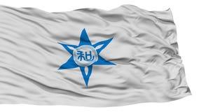Isolated Wakayama Flag, Capital of Japan Prefecture, Waving on White Background Stock Images