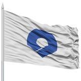 Isolated Wakayama Japan Prefecture Flag on Flagpole Stock Image