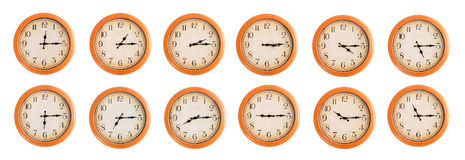 Wall clocks set #3/4 Royalty Free Stock Images