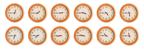 Wall clocks set #4/4 Stock Image