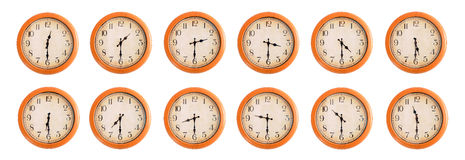 Wall clocks set #2/4 Stock Images