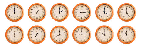 Wall clocks set #1/4 Stock Photo