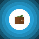 Isolated Wallet Flat Icon. Billfold Vector Element Can Be Used For Pocketbook, Wallet, Billfold Design Concept. Royalty Free Stock Photos