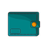 Isolated wallet of money concept. Wallet icon. Money financial item commerce and market theme. Isolated design. Vector illustration Stock Photos