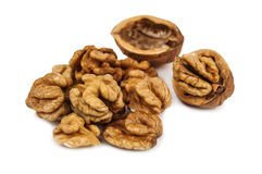 Isolated walnuts Royalty Free Stock Images
