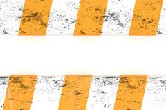 Isolated warning hazard pattern in orange and white stripes Royalty Free Stock Image