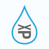 Isolated water drop with  a Tongue sticking text face emoticon Stock Images