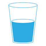 Isolated water glass. On a white background, Vector illustration Stock Image