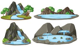 Isolated water pond on white background royalty free illustration