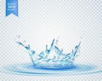 Isolated water splash effect on transparent background Stock Photography