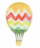 Isolated watercolor air balloon. Stock Photos