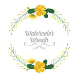 Isolated watercolor tropical flowers and leaves. stock illustration
