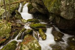 Isolated Waterfalls in a Mountain Boulder Field. Located in the Blue Ridge Parkway, Virginia, USA Royalty Free Stock Photography