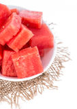 Isolated Watermelon Pieces Stock Photography