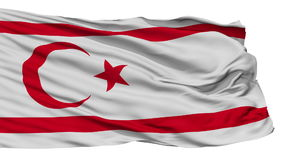 Isolated Waving National Flag of Northern Cyprus vector illustration