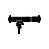 Isolated weapon Stock Image