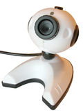 Isolated webcam. Webcam close up, isolated over white Royalty Free Stock Image