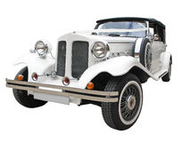 Isolated wedding car Royalty Free Stock Images