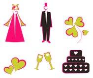 Isolated Wedding Decoration Stock Photo
