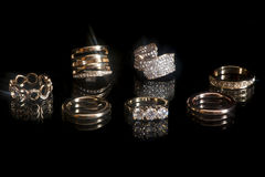 Isolated wedding ring Stock Image
