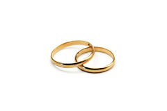 Isolated wedding rings Stock Images