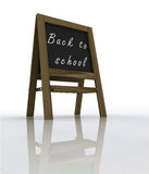 Isolated welcoming school wooden rack perspective view Stock Image