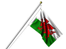Isolated Welsh Flag Royalty Free Stock Image