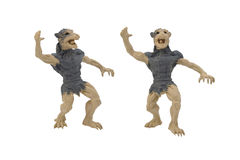 Isolated werewolf toy photo. Isolated werewolf side and angle view toy photo Royalty Free Stock Photo