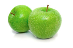 Isolated wet apples 2 Stock Photography