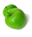 Isolated wet apples Stock Images