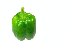 Isolated wet green pepper Stock Photography