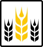 Isolated wheat and darnel symbol Royalty Free Stock Images