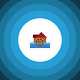 Isolated Wheel Flat Icon. Watermill Vector Element Can Be Used For Watermill, Wheel, Waterwheel Design Concept. Watermill Vector Element Can Be Used For Stock Image
