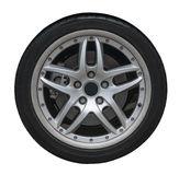 Isolated Wheel and Tire Stock Photo