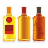 Isolated whiskey bottles Royalty Free Stock Image