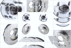 Isolated on white background brake discs and Royalty Free Stock Photo