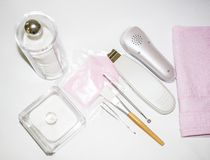 Cosmetology tools stock photo