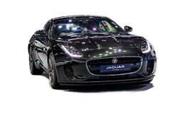 Isolated in white background of Jaguar F-TYPE car model 2018 . D stock images