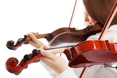 Violin duet Royalty Free Stock Photo
