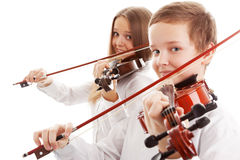 Violin duet Royalty Free Stock Images