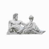Isolated at white background statue of Neptune in Rome Royalty Free Stock Photo