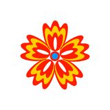 Abstract Flower bright icon. Isolated on white background. Vector illustration stock illustration