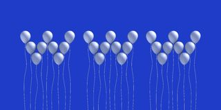 Isolated white balloons Stock Photo