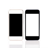 Isolated white and black touch phones Royalty Free Stock Photography